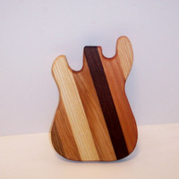 Mini Guitar Cutting Board by tomroche on Etsy