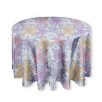Dancing Flowers Round Tablecloth