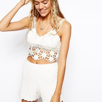 ASOS Bralet In Crochet