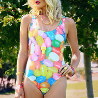 Love This Sunday Jelly Bean One-Piece Swim Suit