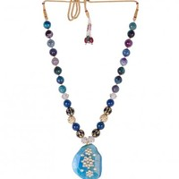 Multicolored Stone Necklace - Shubhi Kansal - Designers