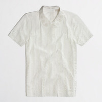 FACTORY PETER PAN EYELET TEE