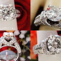 2CT+ Leo Round Brilliant Diamond Engagement Ring IGI Certified and Appraised