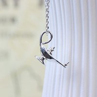 Silver Arabian Nights Magic Lamp Necklace