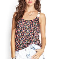 Crocheted Floral Tank