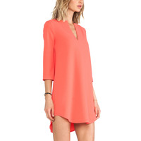 BB Dakota Grendell Bell Sleeve Dress in Coral