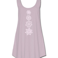 Organic Chakra Mini Dress: Soul Flower Clothing
