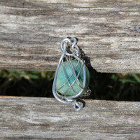 Wire Wrapped & Blessed Stone Necklace