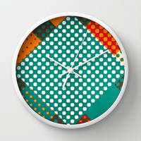 Dots Wall Clock by SensualPatterns