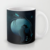 Sensual Cat in the Moonlight Mug by LouJah | Society6