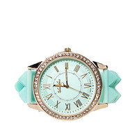 Papaya Clothing Online :: RHINESTONED SILICONE ROUND WATCH