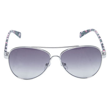 Pretty Floral Aviator Sunglasses | Wet Seal