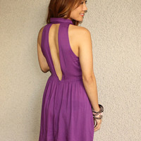 Collar Halter Dress