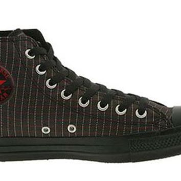 Converse Chuck Taylor All Star Hi Top Pinstripe Black/Chilipepper/White