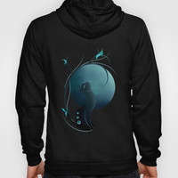 Sensual Cat in the Moonlight Hoody by LouJah | Society6