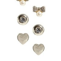 Oasis | Oasis Heart Trio Earring Set at ASOS
