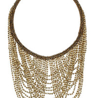 DRAPED MULTI ROW BEADED NECKLACE