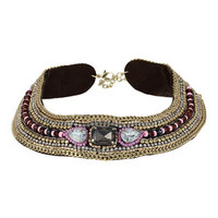 MULTI ROW BEADED COLLAR