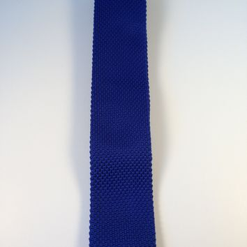 Royal Blue Narrow Knit Tie
