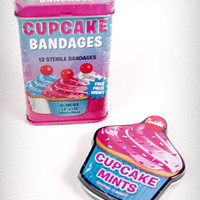 Cupcake Care Kit Band-Aids & Mints | PLASTICLAND