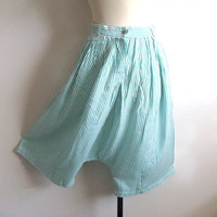 Esprit Vintage 1980s Shorts Green White Stripes Harem Bottoms 7