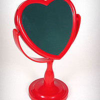 Red Heart Shaped Vanity Mirror | PLASTICLAND
