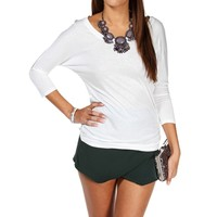 Ivory Basic Dolman Top