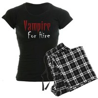 Vampire for Hire Pajamas - Vampire Attire - PJs - Jammies
