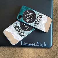 5SOS Beach Logo - iPhone 4/4s/5/5c/5s Case- Samsung Galaxy S2/S3/S4  Case- Blackberry z10 Case- iPod 4/5 Case - Black or White