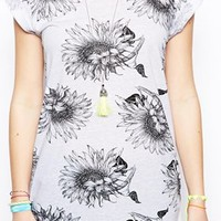 ASOS T-Shirt In Sketchy Floral