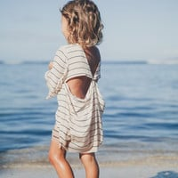 The Girl and The Water - ACACIA Swimwear - Tortolla Honey Dress / Island Orchid - $145