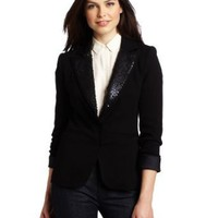 Yoana Baraschi Women's Red Carpet Sequined Tux Blazer