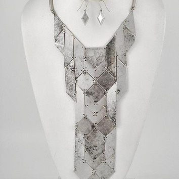 Iron Lady Large Silver Statement Necklace