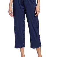 Nautica Sleepwear Women's Knit Dot Capri Pant