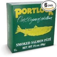 Port Chatham Smoked Salmon Pate, 3.5-Ounce Cans in Green Boxes (Pack of 6)