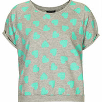 TOWEL HEART PRINT TOP