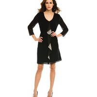 Armani Exchange Ruffle Shirt Dress