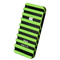 Candy Color Stripes Cut Out Phone Shell Case for Iphone5/5s