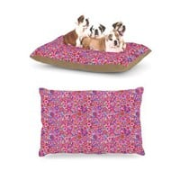 "Kess InHouse Julia Grifol ""My Dreams in Color"" Pink Stars Dog Bed"