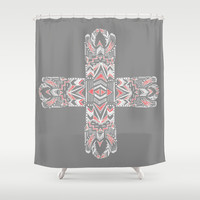 Pocatiki Tribe Shower Curtain by Tiki