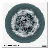 Digital Dandelion On Blue Wall Decal