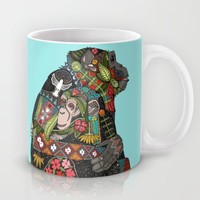 chimpanzee love sky Mug by Sharon Turner | Society6