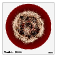 Digital Dandelion On Red Wall Decal