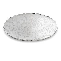 Alessi Dressed Round Tray - Style # MW07, Modern Serving Trays – Modern Silver Serving – Alessi Serving Tray – iBride Serving Tray | SwitchModern.com