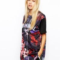Criminal Damage | Criminal Damage Floral Baseball Jersey Top at ASOS