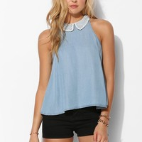 Coincidence & Chance Eyelet-Collar Sleeveless Top - Urban Outfitters