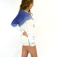 Stockton Blue Tie Dye Cropped Top