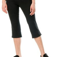Motherhood Maternity: Under Belly Jersey Knit Cropped Maternity Yoga Pants