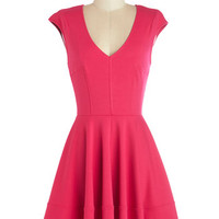 Curtsy for Yourself Dress in Fuchsia | Mod Retro Vintage Dresses | ModCloth.com