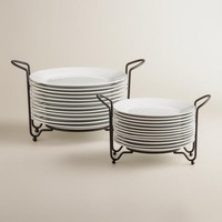 Porcelain Plates Sets with Space-Saving Racks
